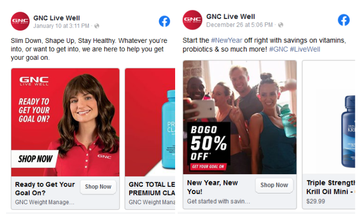 GNC Live Well Ad Campaign